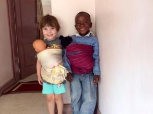 lyra and luka with babies 1